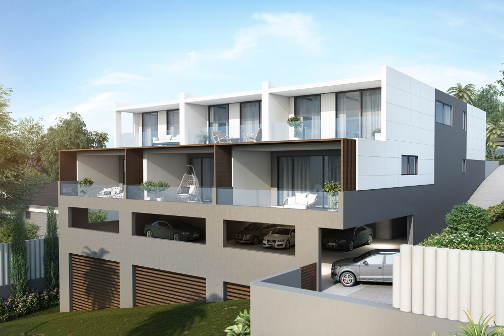 Architect Designed Cube Townhouses in Terrigal 003