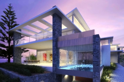 Architect designed house, Water Views, Waterfront, modern, infinity edge pool, contemporary design, Terrigal house