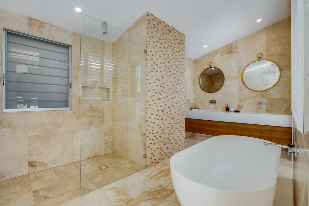 Modern Bathroom at Wamberal Reno House