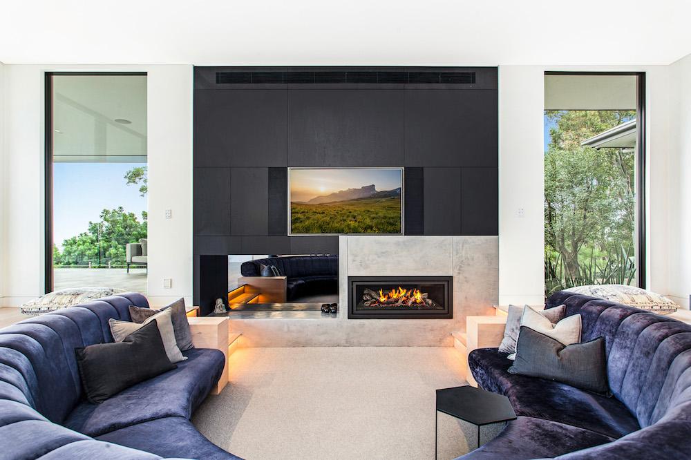 Modern Fireplace - Slater Architects