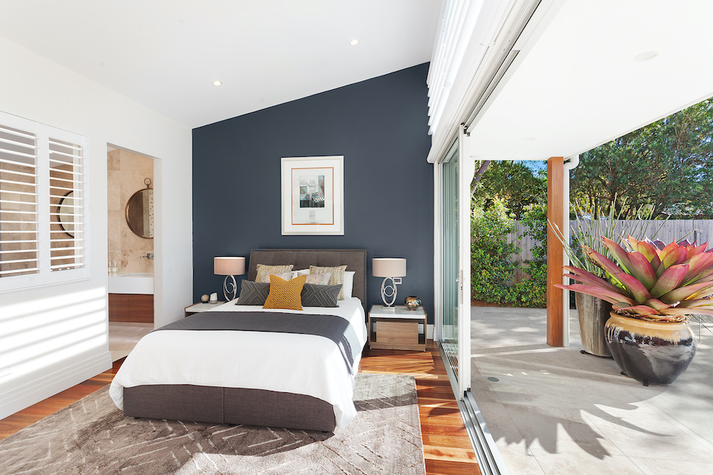 Wamberal Guest Bedroom Opens to Backyard