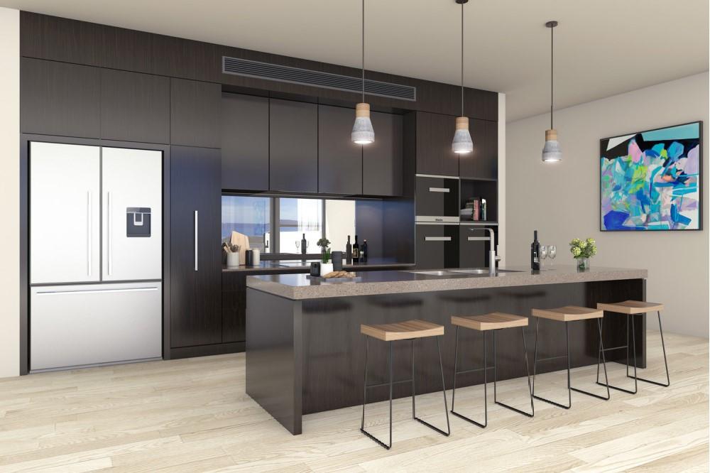 Kitchen design for Australian beach house