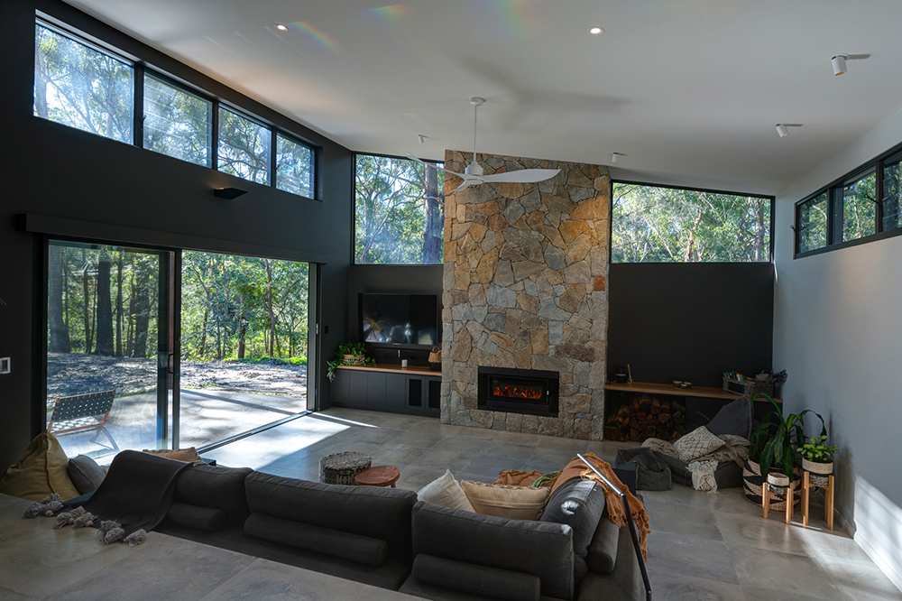 Macmasters Living Area with Fire Pit