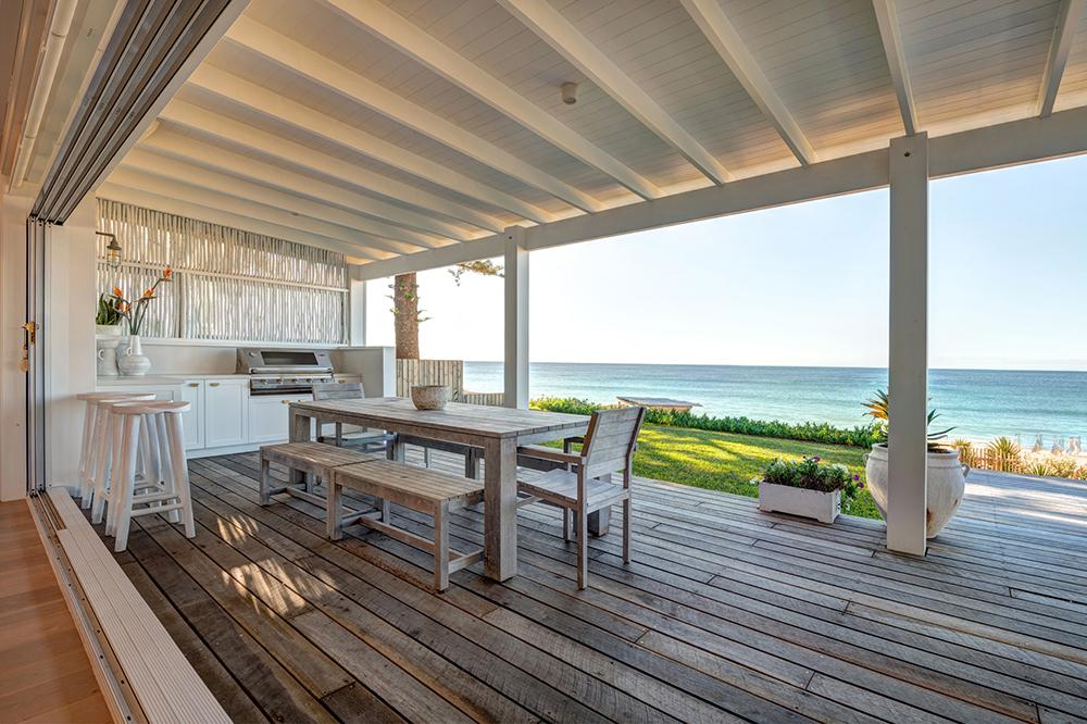 Pacific House Pergola Deck Area